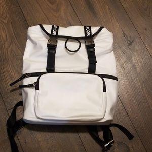 MK Black and White Backpack